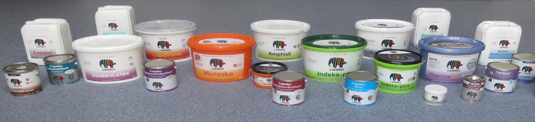 Caparol Produktpalette klein - Farbe kaufen